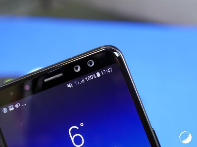 Le double APN avant du Galaxy A8 2018