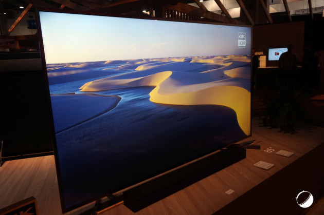 ces 2018 sony pr sente deux nouvelles tv oled et lcd en 4k hdr frandroid. Black Bedroom Furniture Sets. Home Design Ideas