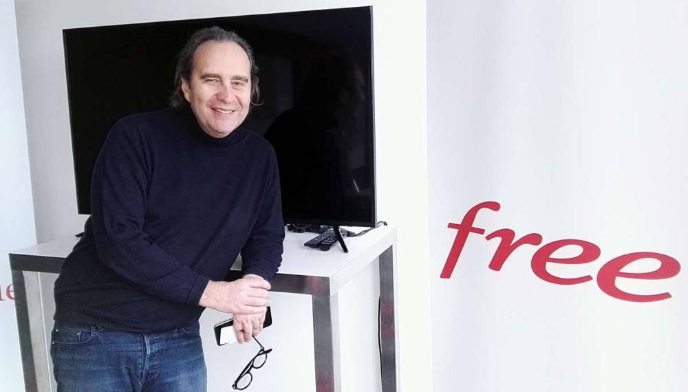 Xavier Niel, attendant certainement le lancement de sa nouvelle Freebox