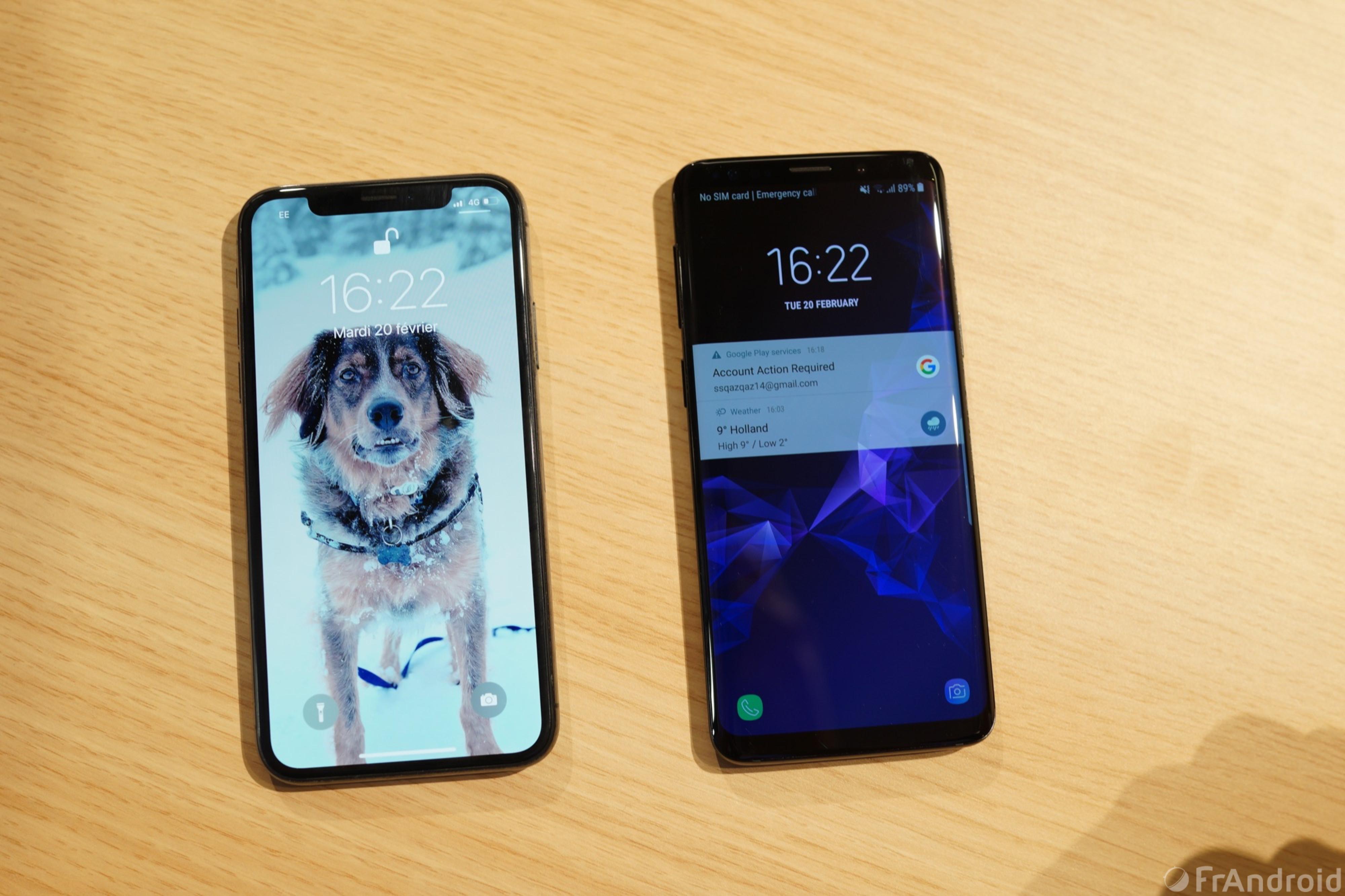 Pourquoi Choisir Un Samsung Galaxy S9 Au Lieu D Un Iphone X Frandroid