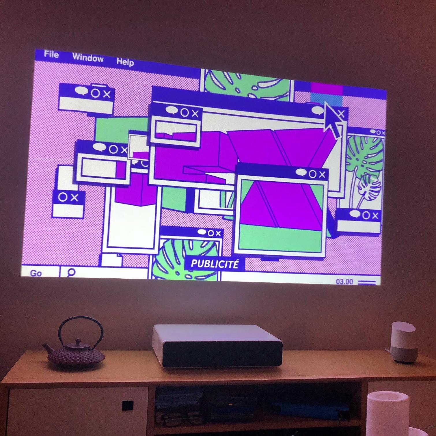 Peinture Pour Ecran Retroprojecteur test du xiaomi mi laser projector, un projecteur à courte