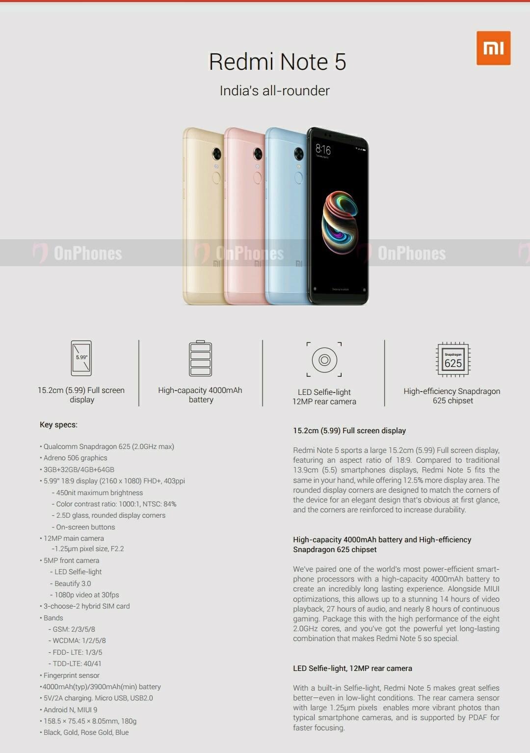 Les Xiaomi Redmi Note 5 Et Note 5 Pro Sont Officialis 233 S 224