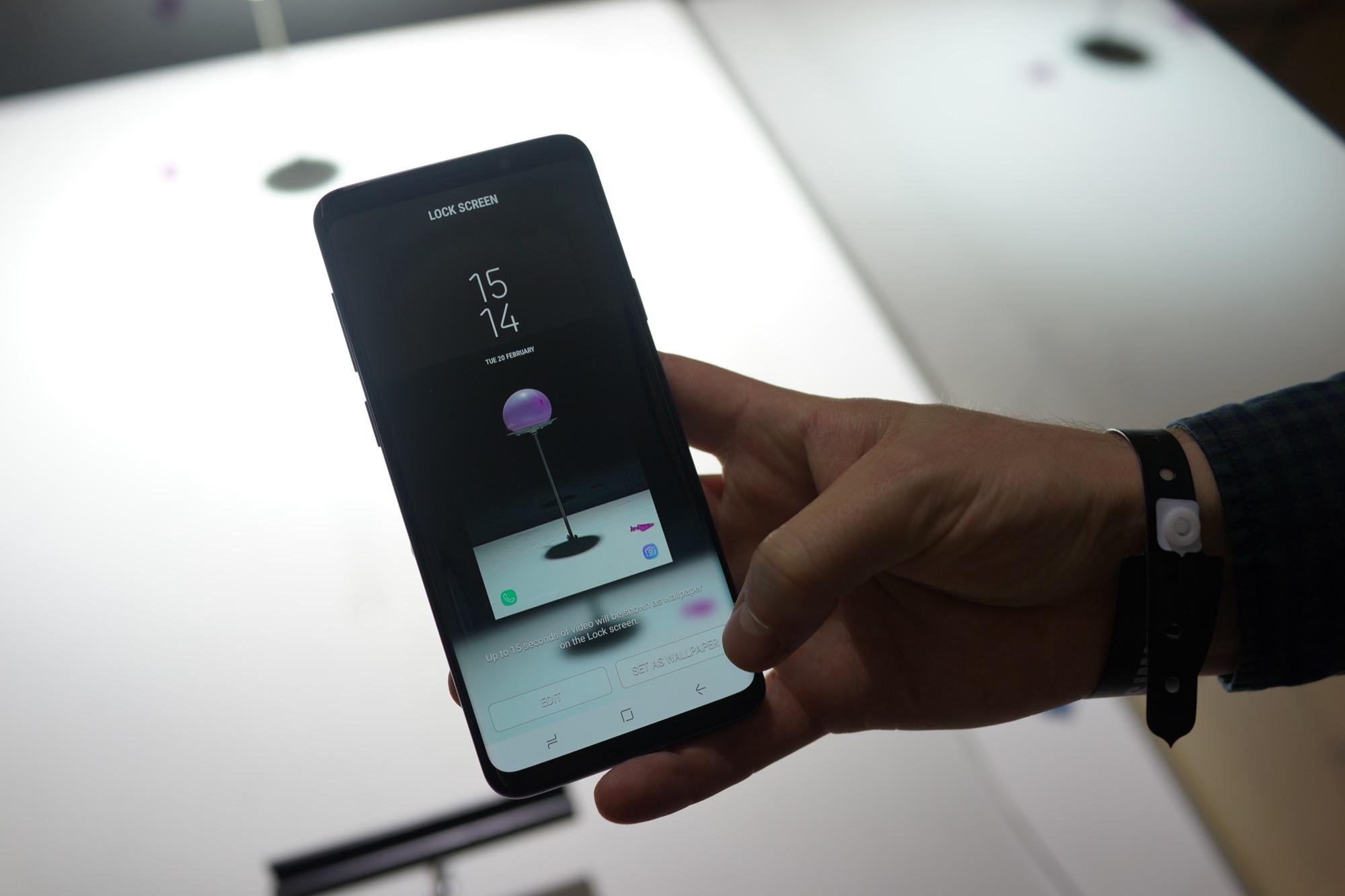Prise en main du samsung galaxy s9 et du galaxy s9 for Samsung photo ecran