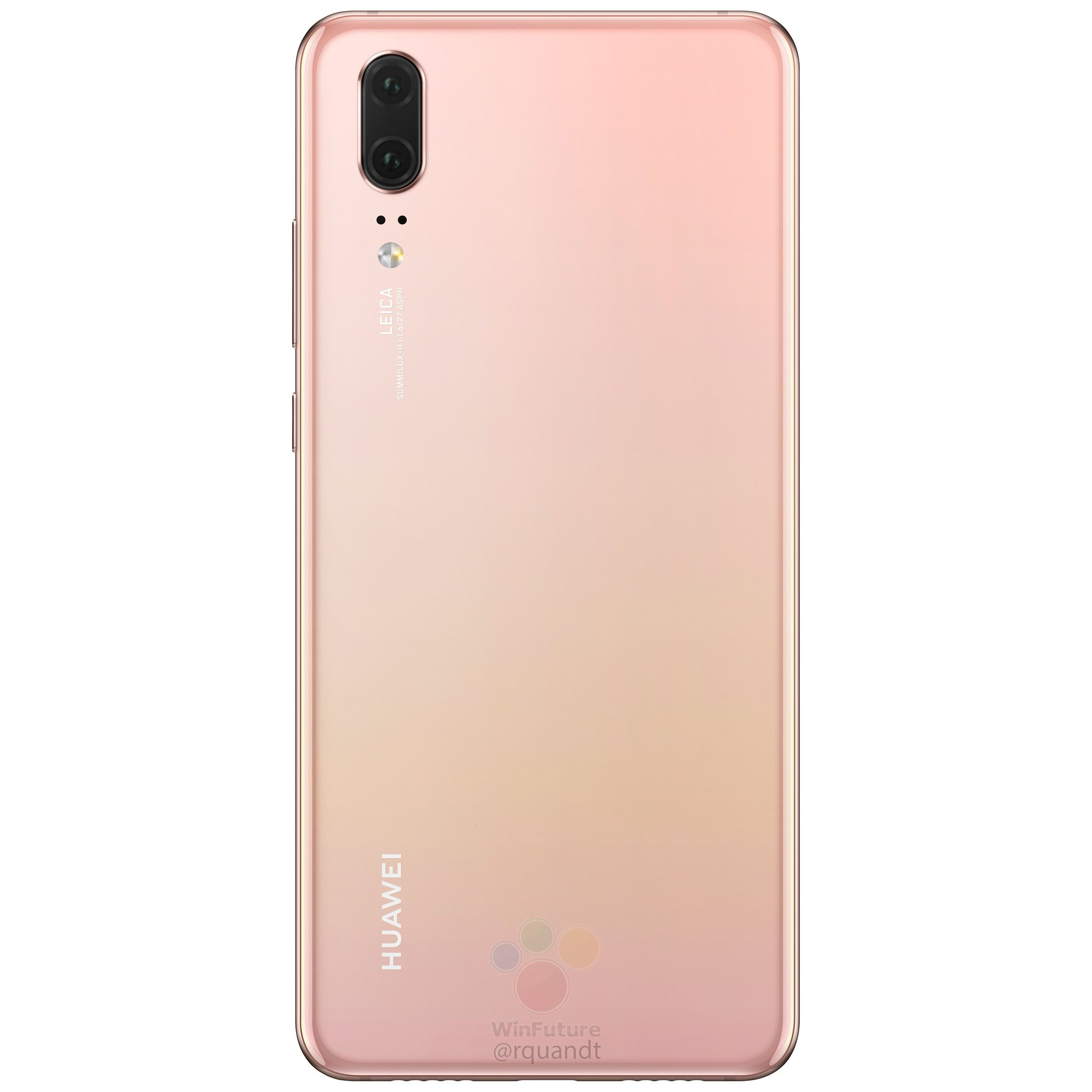 coque huawei p20 pro rose pale