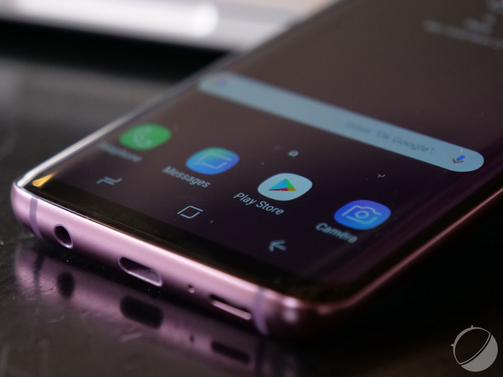 L'écran incurvé du Samsung Galaxy S9
