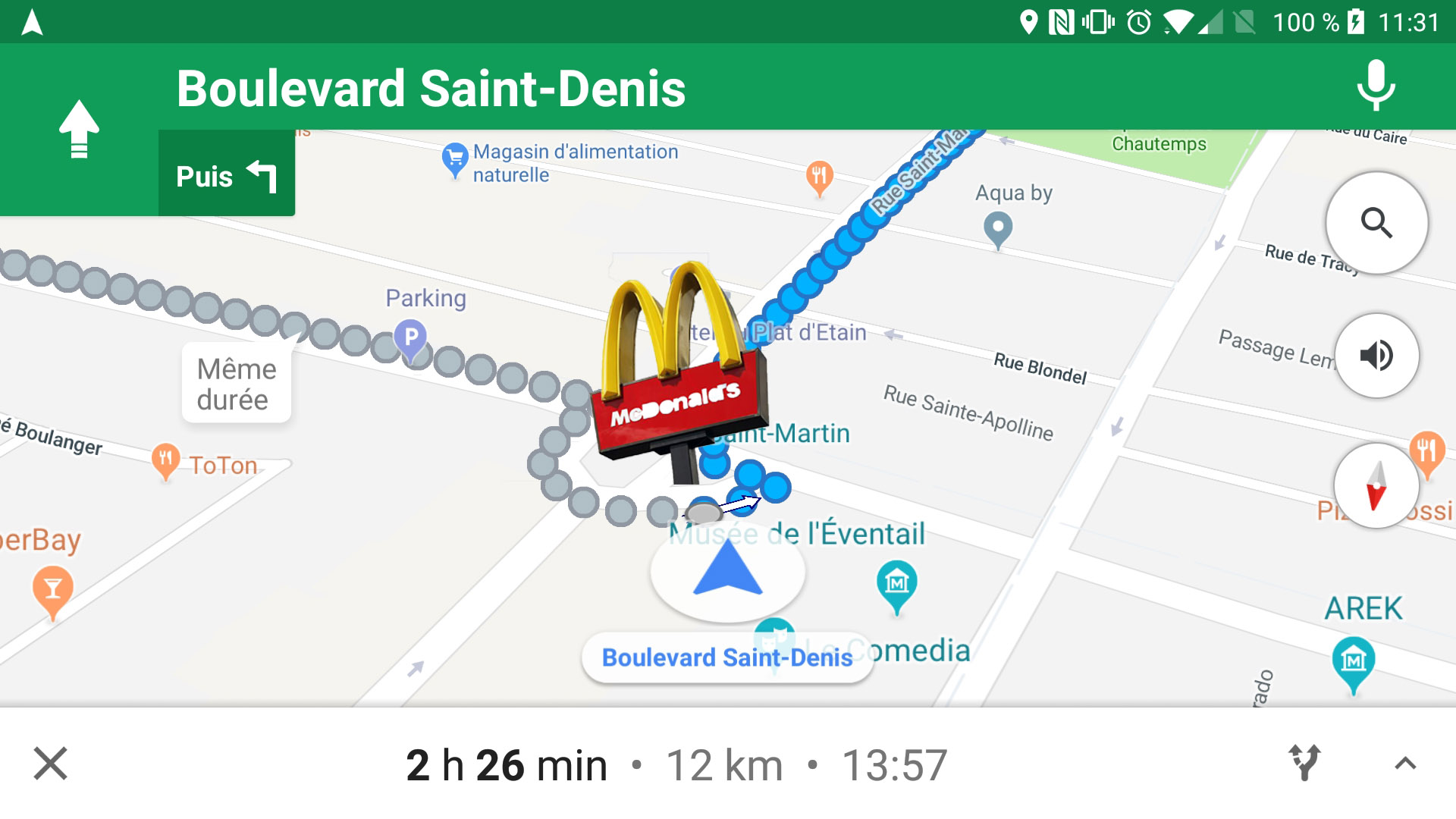 Google maps tournez droite apr s le mcdonald 39 s ou for 10e chambre instants d audience