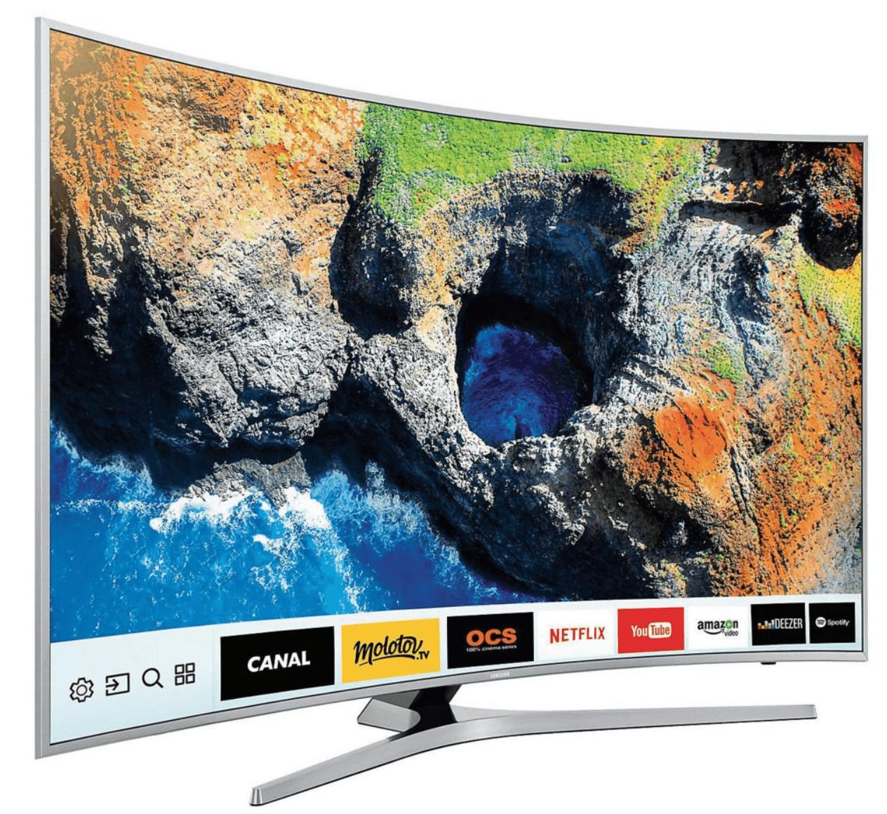 Pour exemple, la Samsung TV LED 4K HDR 49 pouces à forme incurvée est  disponible à ... d7f9150df83d