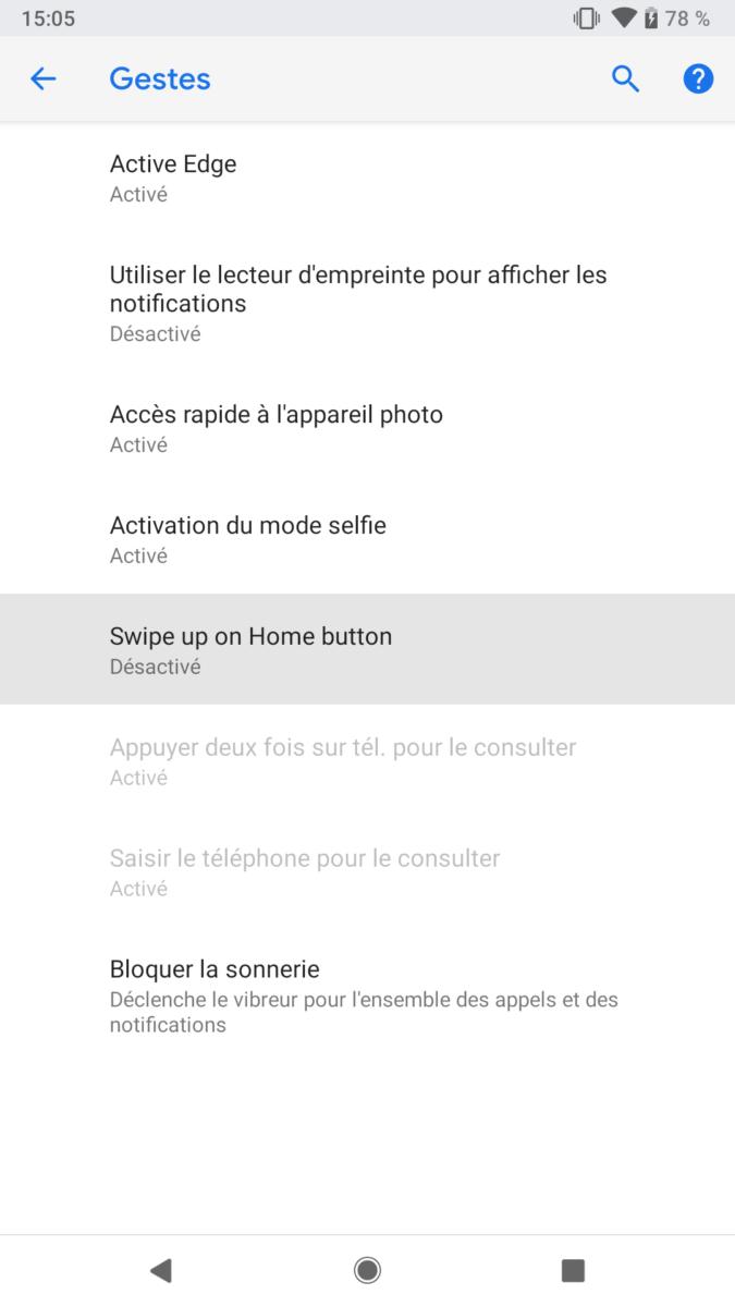 Android P Beta Google Pixel 2 activate gestures (3)