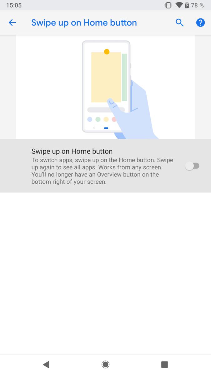 Android P Beta Google Pixel 2 activate gestures (4)