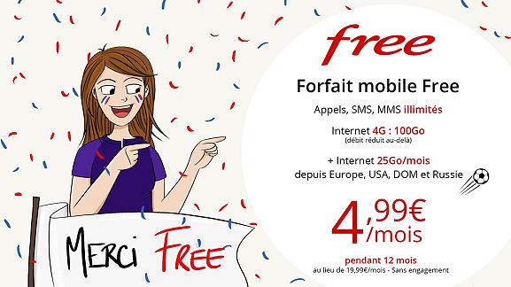 🔥 Bon plan Free Mobile : le forfait 4G 100 Go à 5 euros/mois seulement sur Vente-Privée
