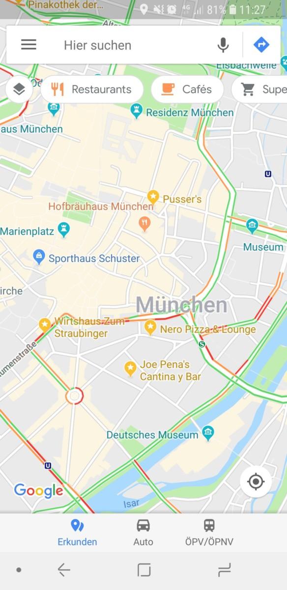 Google Maps discover design 1
