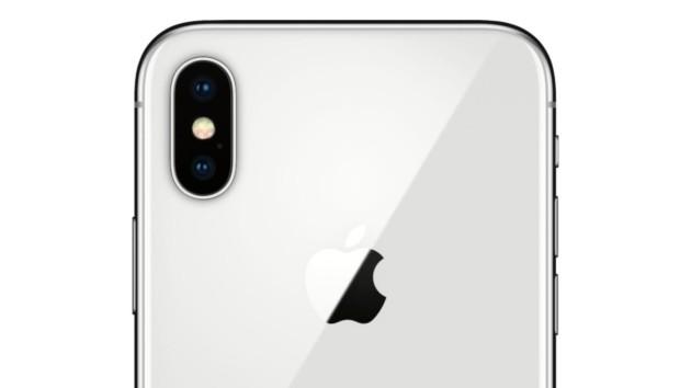 L'iPhone X vu de dos