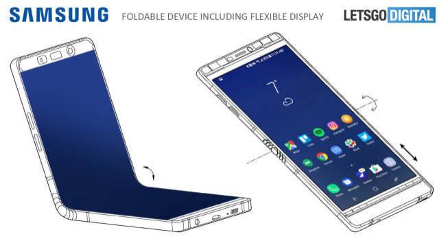 Une idée du smartphone pliable selon Samsung