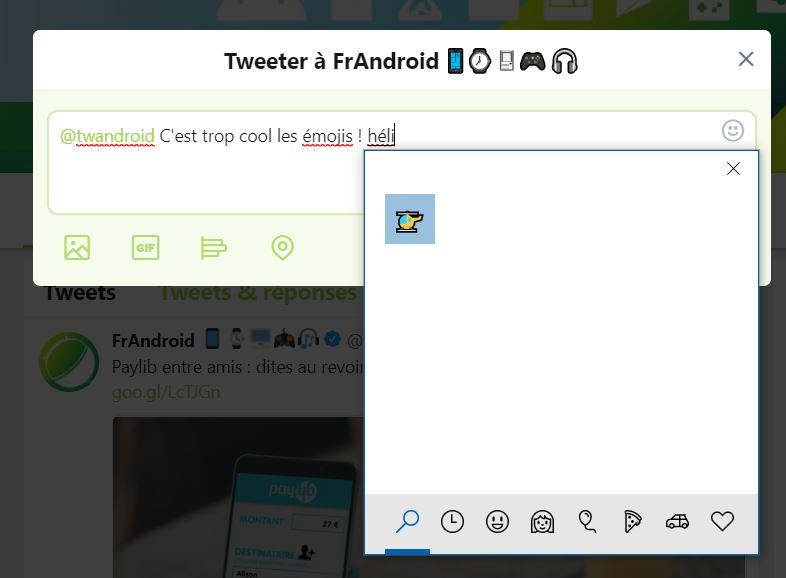 Windows 10 clavier emoji recherche