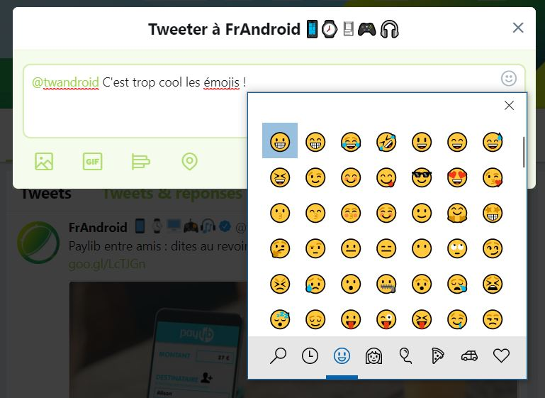 Windows 10 clavier emoji