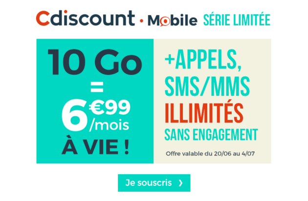 bon plan forfait 10 go sans engagement seulement 6 99 euros par mois vie frandroid. Black Bedroom Furniture Sets. Home Design Ideas