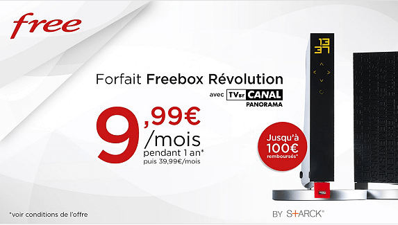 forfait freebox r volution une nouvelle vente priv e sur la meilleure box de free avec tv by. Black Bedroom Furniture Sets. Home Design Ideas