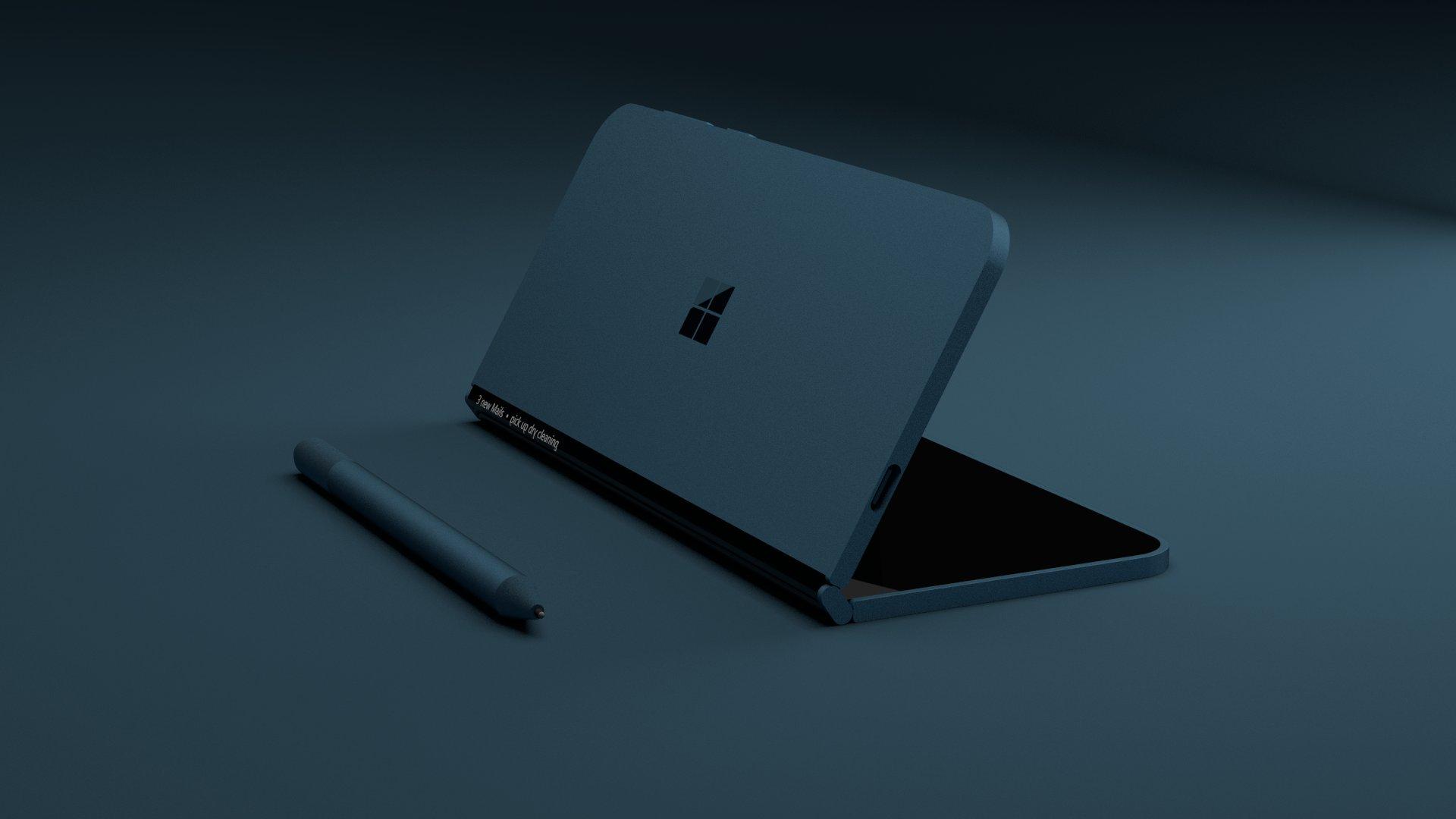Un concept de feu Microsoft Andromeda