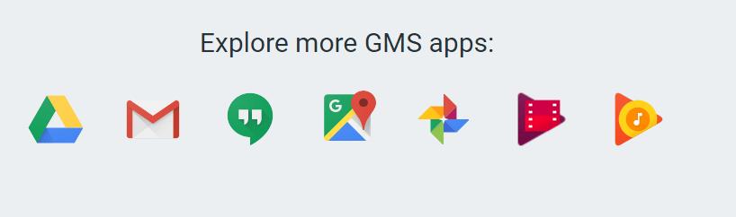 GMS fait référence aux applications propriétaires de Google qui ne font pas partie du projet Android Open Source
