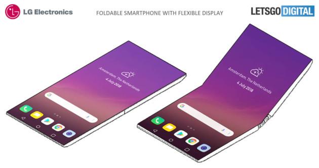 LG et son exemple de smartphone pliable