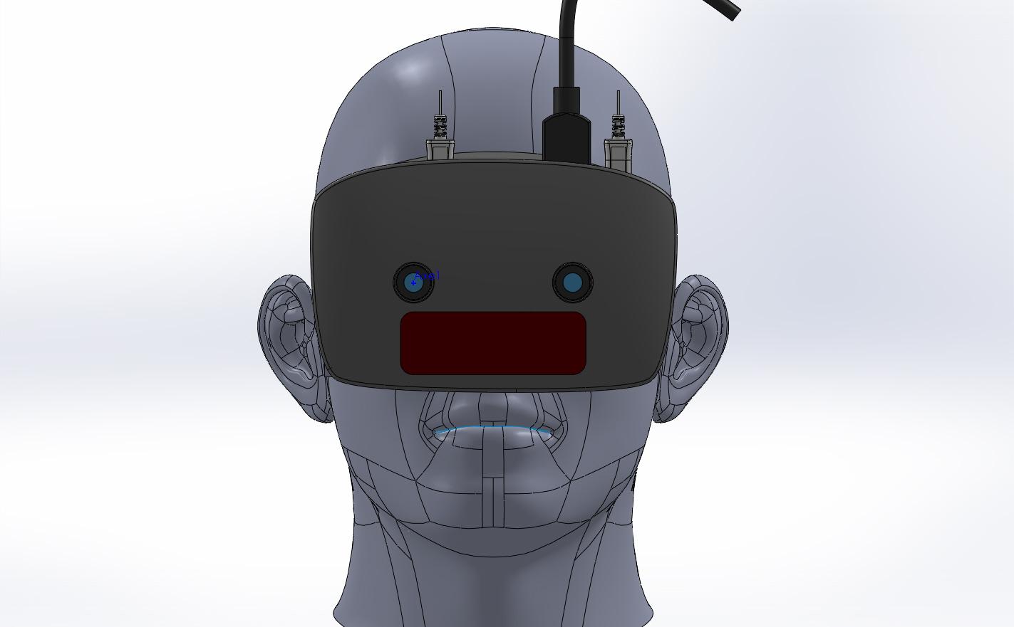 Modélisation 3D du produit, avec ses deux caméras et son capteur Leapmotion