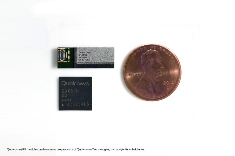 La puce QTM052, le modem X50 et un penny