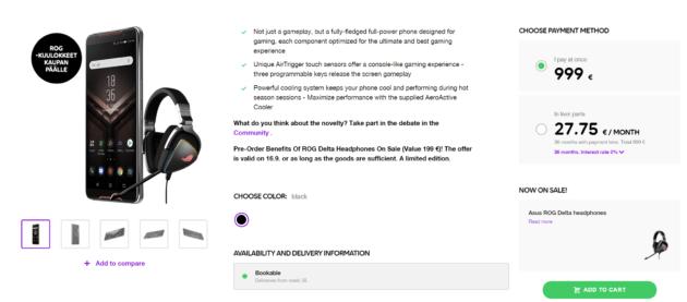 Asus ROG Phone : un prix et une date de sortie révélés par un commerçant finlandais