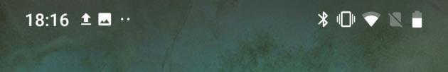 Au-delà de trois notifications, on ne voit plus que deux icônes à gauche et des points de suspension.