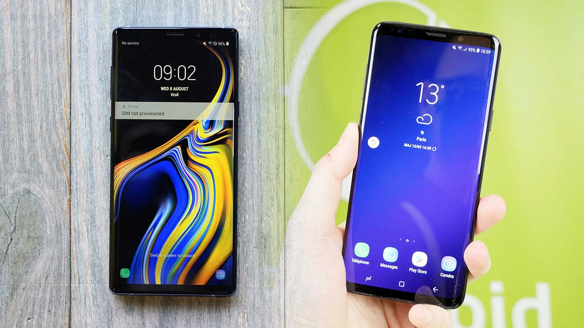 Samsung Galaxy Note 9 Face Au Galaxy S9 Une Différence Vraiment