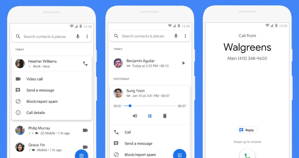 L'application téléphone de Google