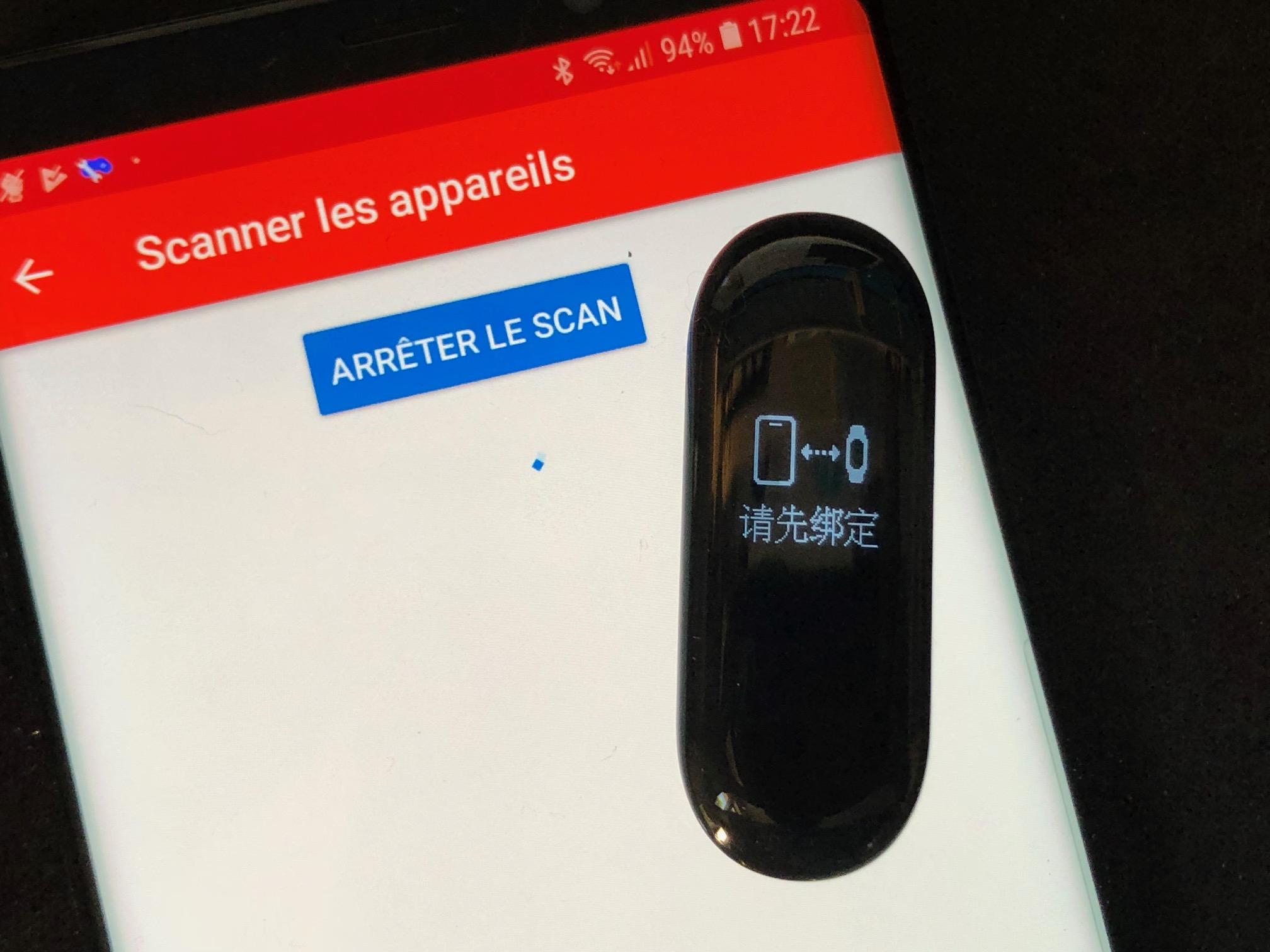 Comment passer le bracelet Xiaomi Mi Band 3 en français