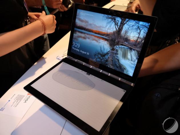 Lenovo Yoga Book C930 : un écran e-ink à la place du clavier, l'idée folle de l'IFA 2018
