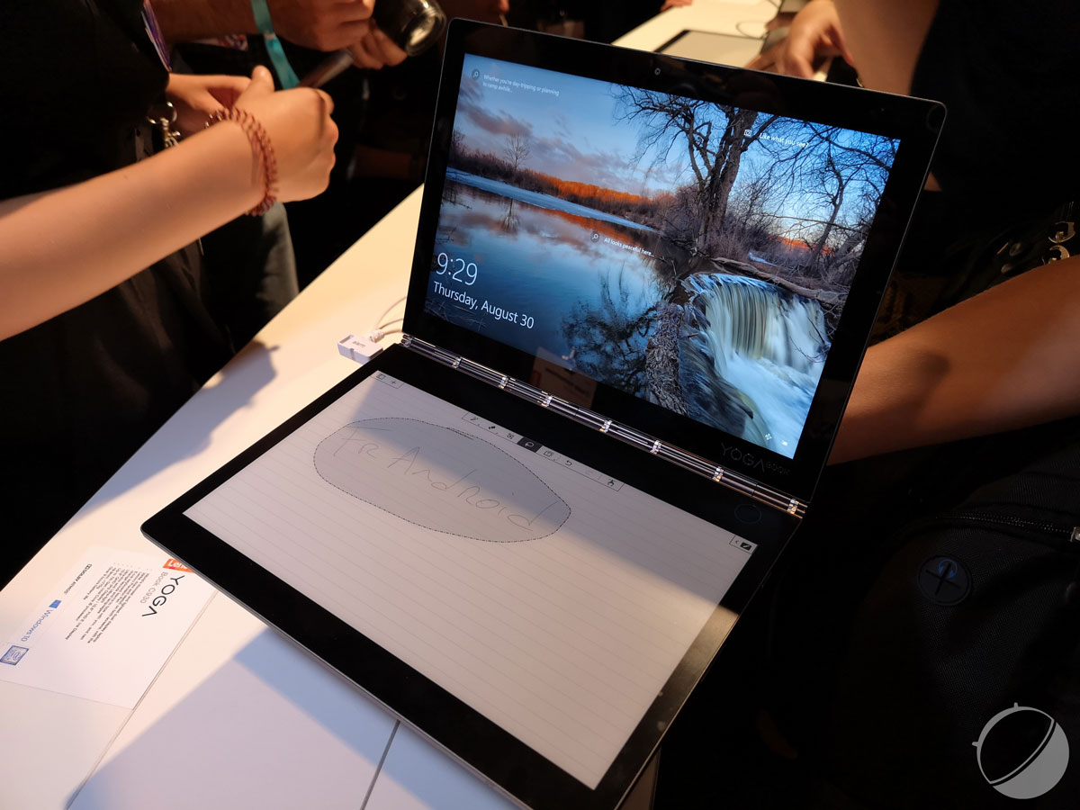 Lenovo Yoga Book C930: an e-ink screen instead of the keyboard, the