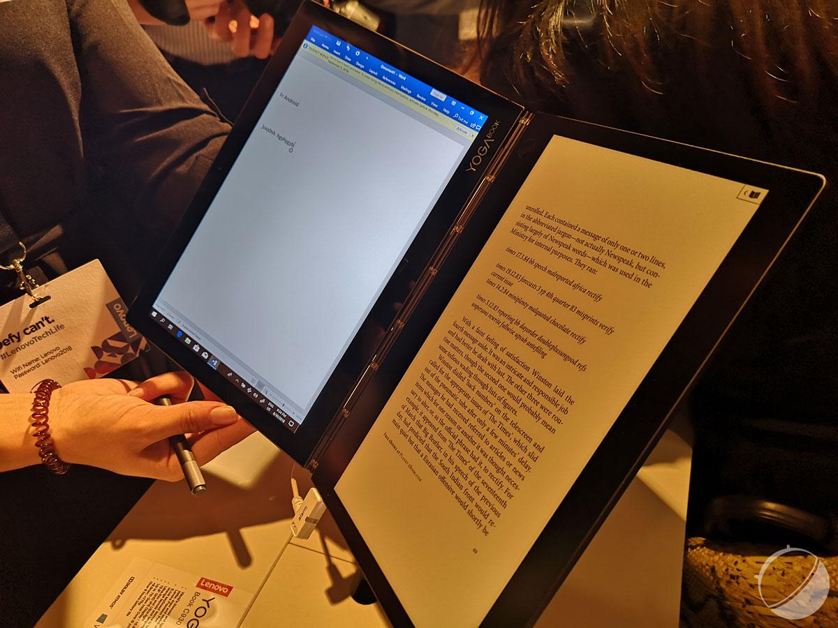 Lenovo Yoga Book C930 : un écran e-ink à la place du clavier