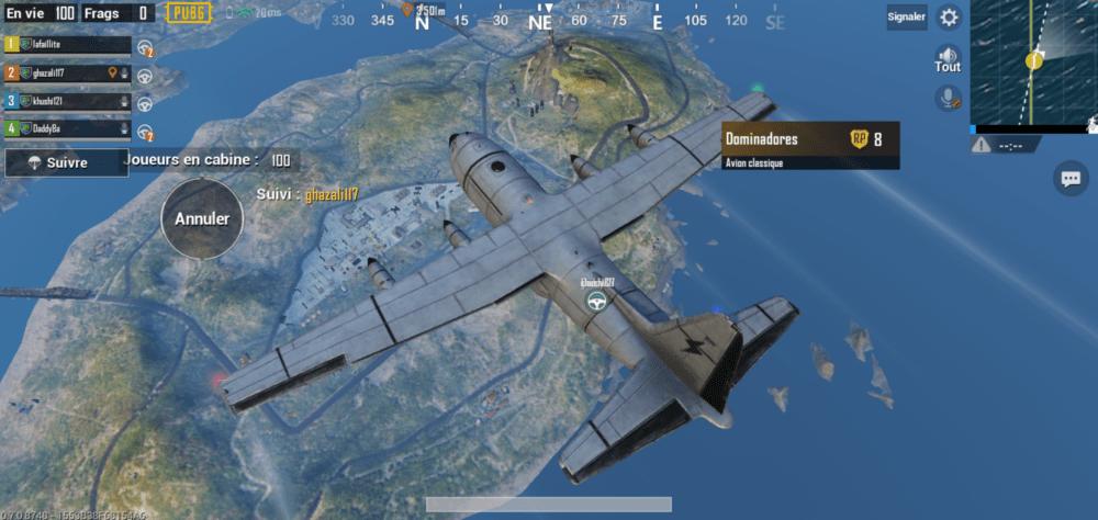 Capture d'écran du jeu PUBG