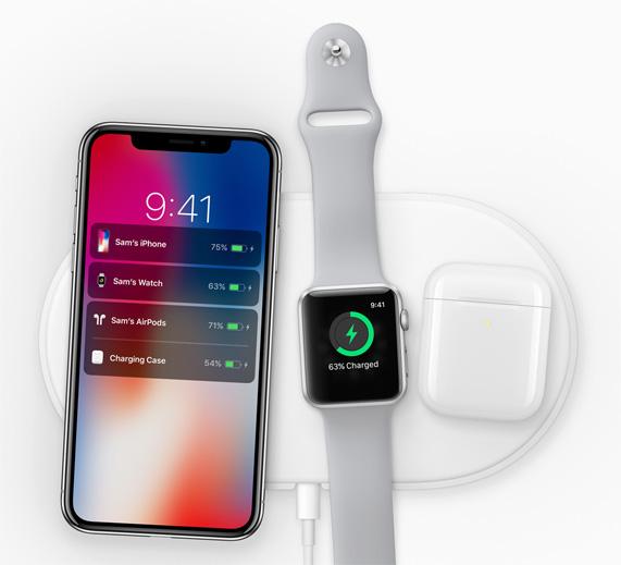 L'iPhone est responsable d'afficher le niveau de charge des accessoires.