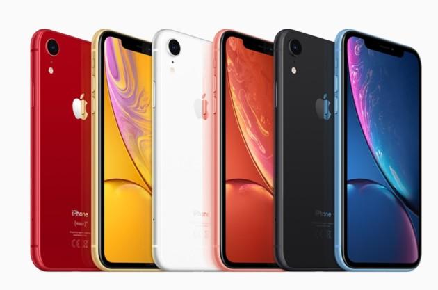 Les nombreux coloris de l'iPhone XR