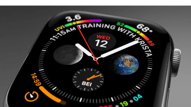 Le cadran Infographe de l'Apple Watch Series 4