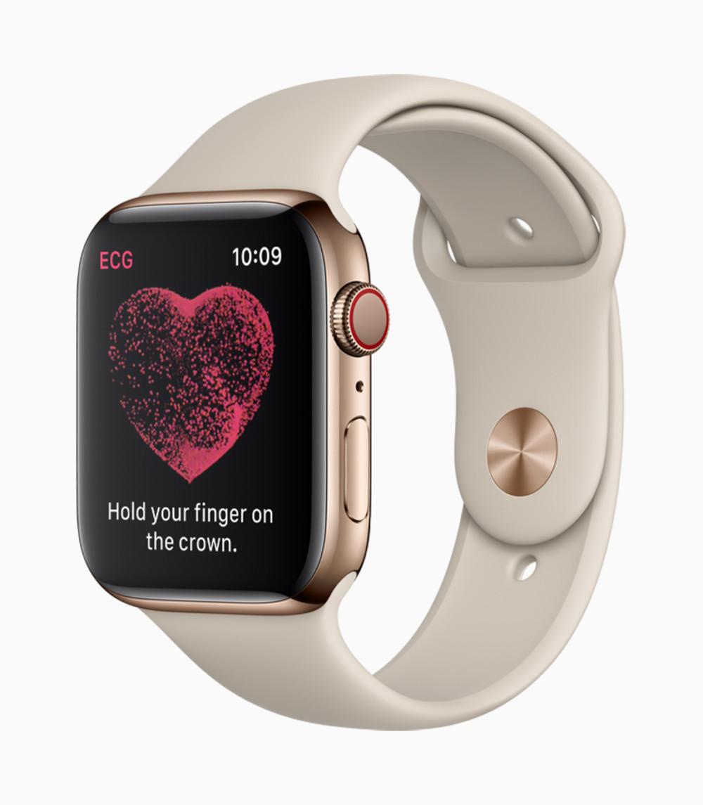 L'Apple Watch4 propose un véritable électrocardiogramme