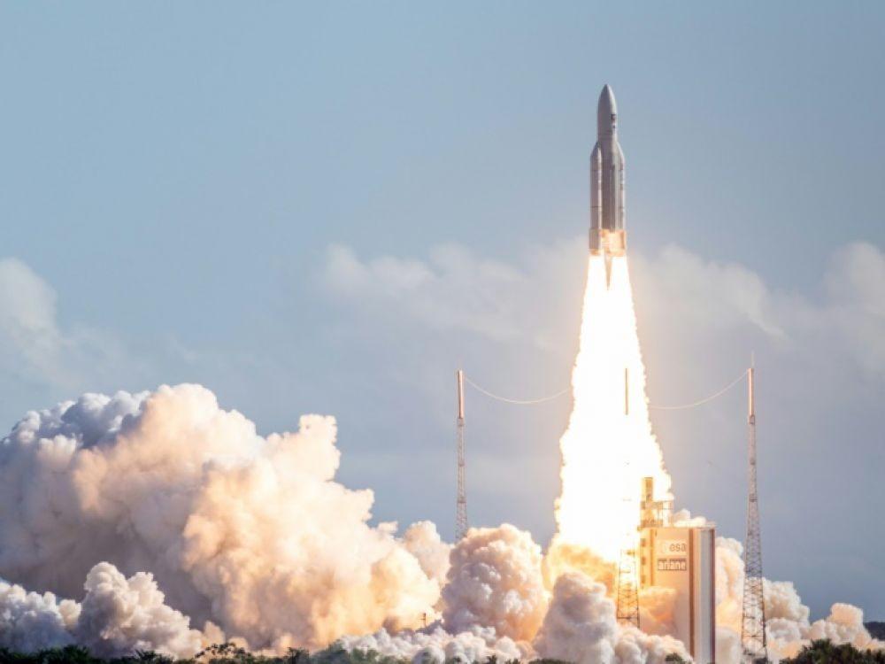 Le décollage de la fusée Ariane. Crédit : AFP