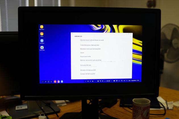 Samsung DeX n'aime pas les écrans16:10