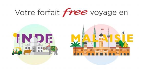 Free Mobile ajoute l'Inde et la Malaisie à son forfait en roaming