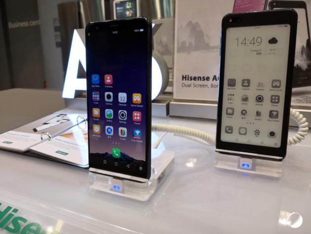 Un nouveau smartphone avec écran arrière e-ink signé HiSense à l'IFA 2018