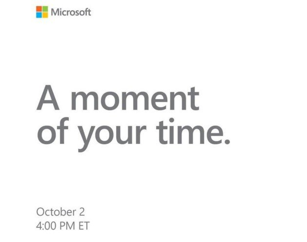 L'invitation de Microsoft. Crédit: Windows Central