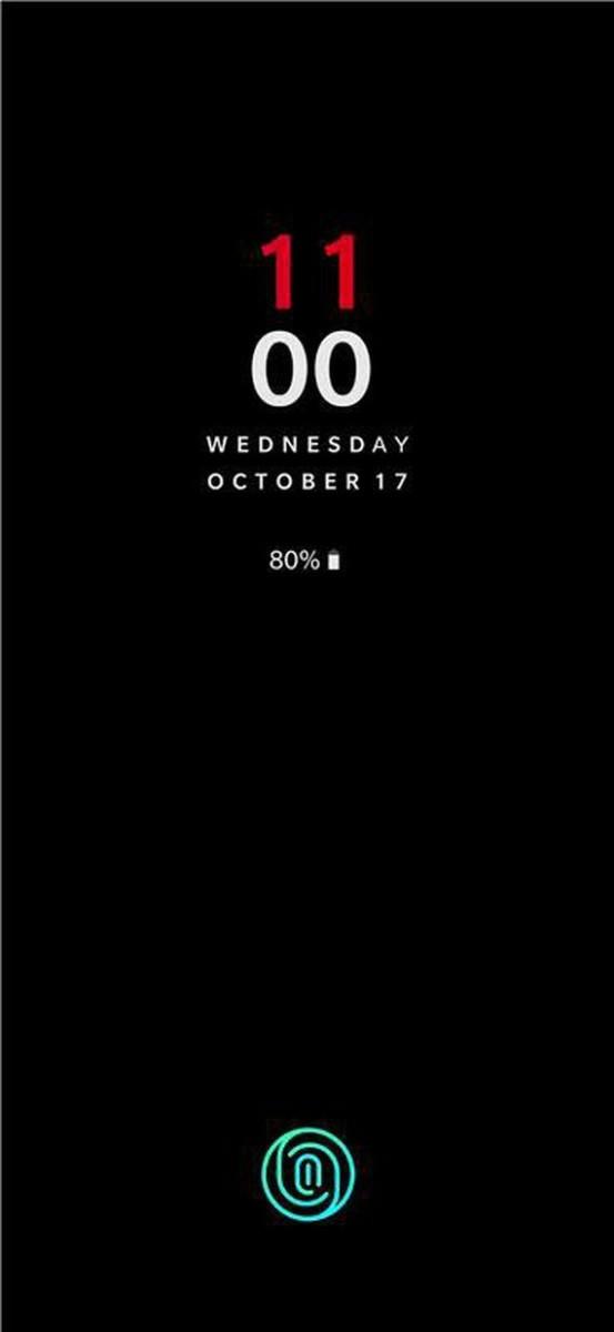 Un aperçu de l'écran de déverrouillage du OnePlus6T