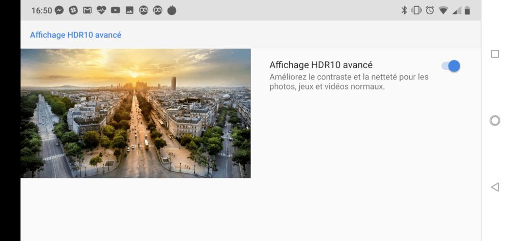 Le Nokia 7.1 permet de convertir automatiquement les photos et vidéos en HDR
