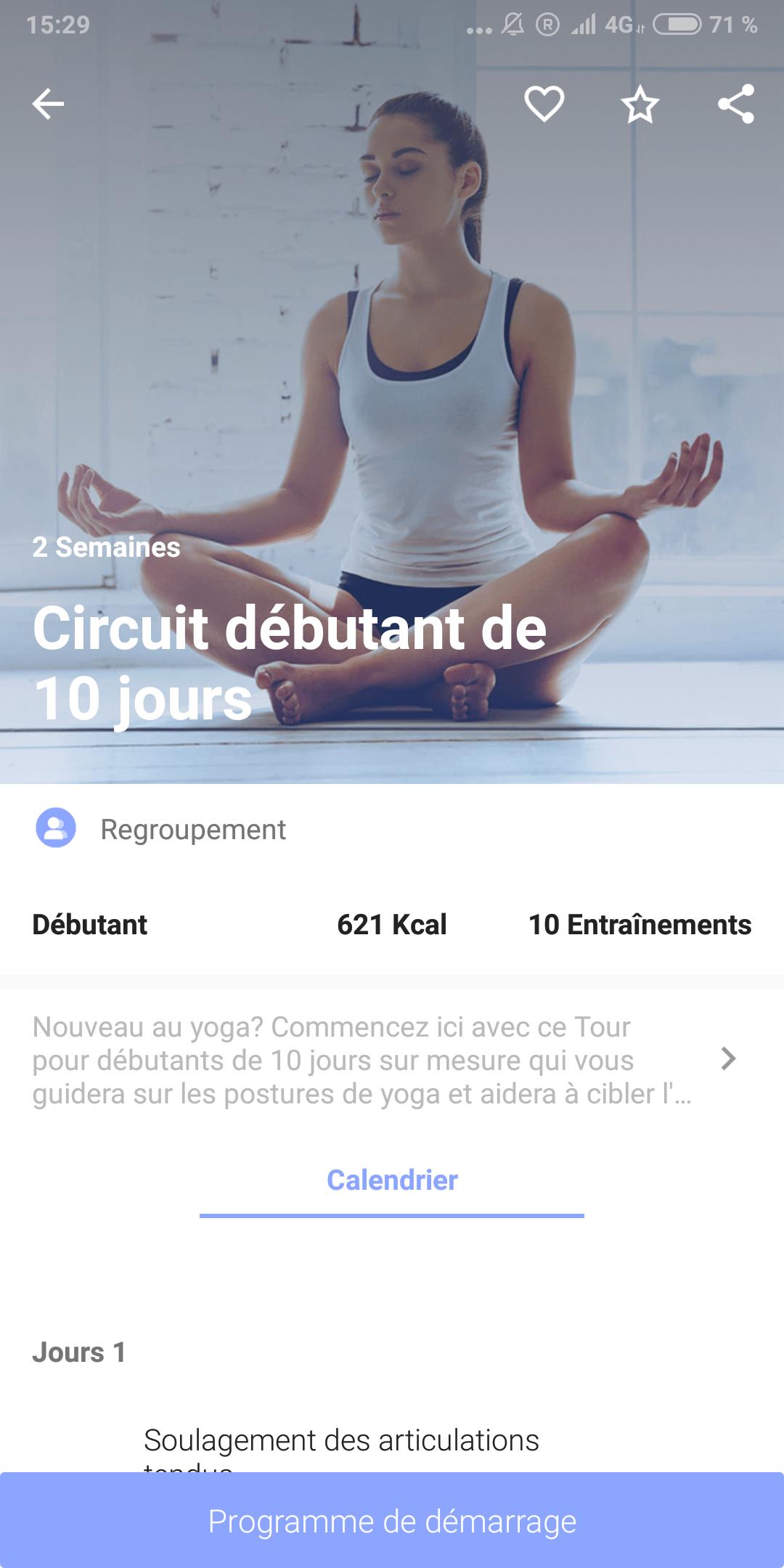 L application 5 Minutes de Yoga vous propose un entrainement rapide et  accessible. En effet 163c1b23003