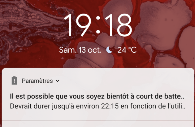 La notification qui donne les bonnes informations