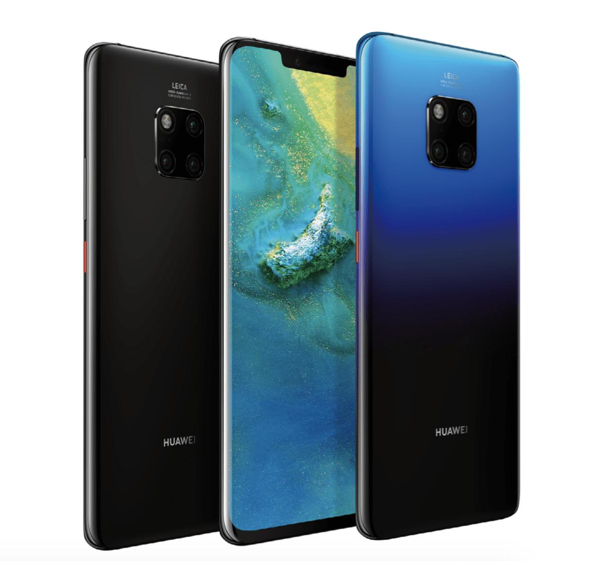 Huawei Mate 20 Lite, Mate 20 et Mate 20 Pro