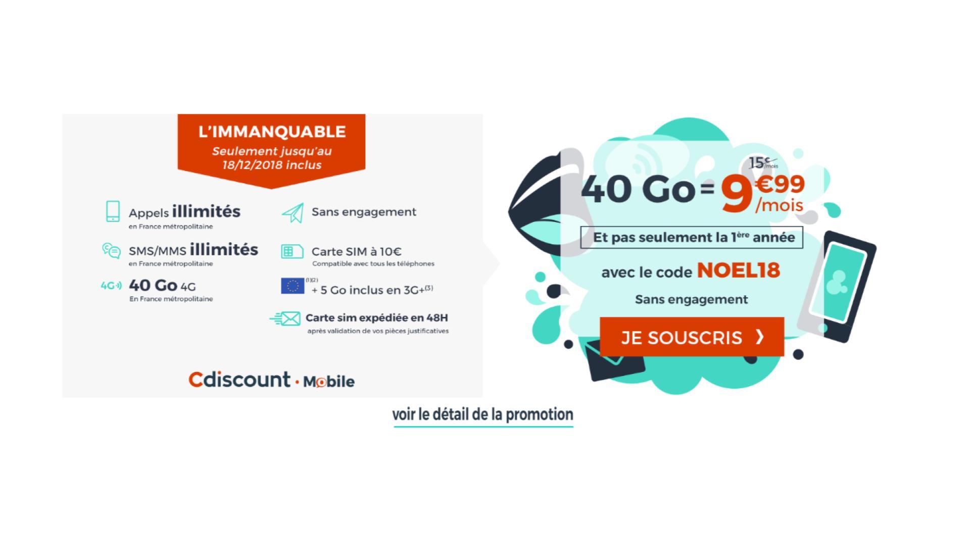 Carte Cdiscount Pieces Justificatives.Prolongation Le Forfait Mobile Cdiscount Avec 40 Go De